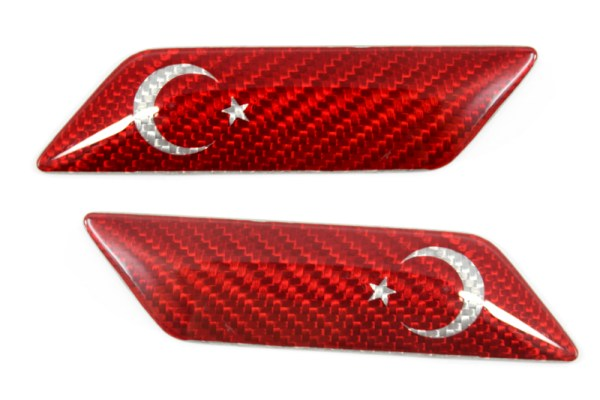 Carbon fiber Turkey flag fender