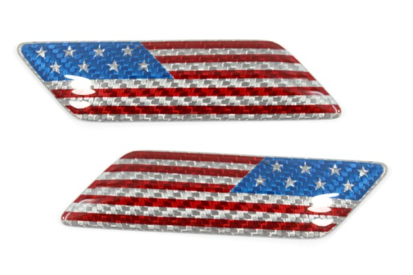Carbon fiber USA flag fender