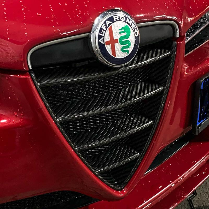 Carbon Fiber Alfa Romeo Brera Front Shield Grill