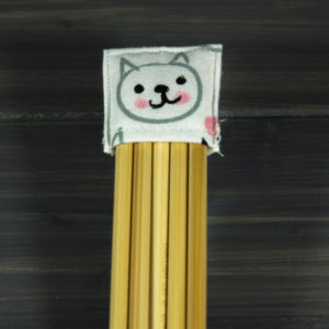 Double pointed Knitting Needle Holder, Pink Black Gray Kittens