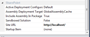 SharePoint project properties