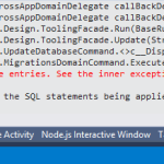"Fixing ""An error occurred while updating the entries"" while running code-first migrations in MVC 5 app"