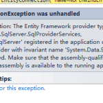 "Fixing error ""No Entity Framework provider found for the ADO.NET provider with invariant name 'System.Data.SqlClient'"""