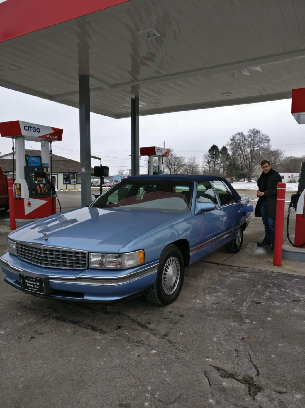 Refueling the Cadillac