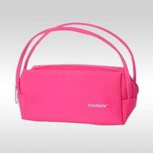 Косметичка Kosmeta Beauty с логотипом розовая
