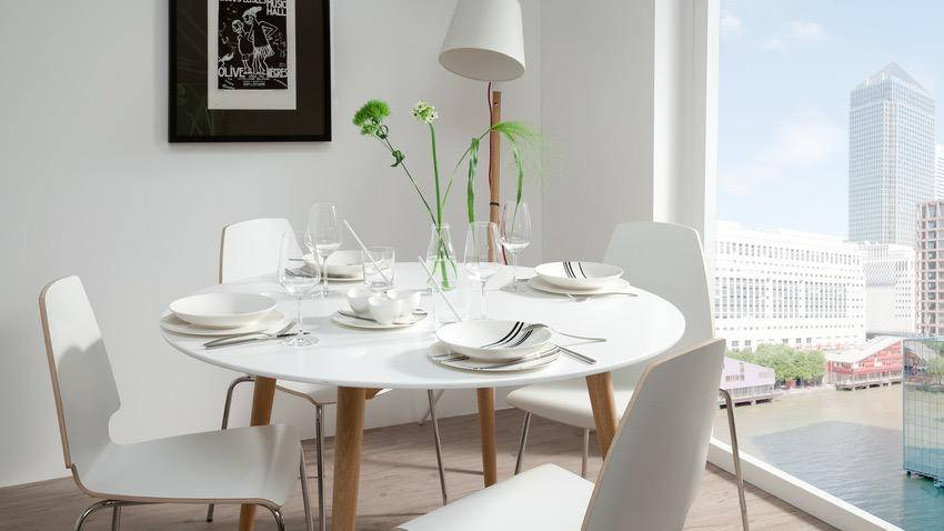 table ronde scandinave blanche 6