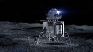 Návrh pilotovaného landeru společností Blue Origin/LM/NG/Draper