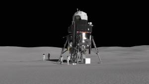 Koncept pilotovaného lunárního landeru Lockheed Martin