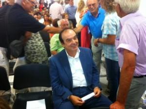 Ο πρώην Δήμαρχος Νίκος Αδαμόπουλος πρόσφατα στην ορκωμοσία της νέας δημοτικής αρχής 2014-2019. Φωτογραφία: Διαμαντής Σεϊτανίδης, e-alitheia.gr