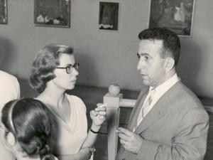 """Οι ιδρυτές του """"Ζυγού"""" Κατερίνα και Φραντζής Φραντζεσκάκης το 1956"""