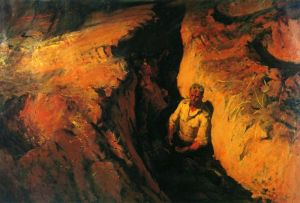 """""""Καμένη γη"""" - πίνακας του Μπορίς Νεμένσκι"""