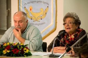 Η Πόλυ Μηλιώρη μαζί με το Θόδωρο Κονταρά στην εκδήλωση της 7ης Δεκεμβρίου 2015
