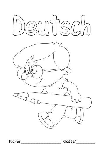 Deckbltter Deutsch 6 Deutsch Zum Ausmalen
