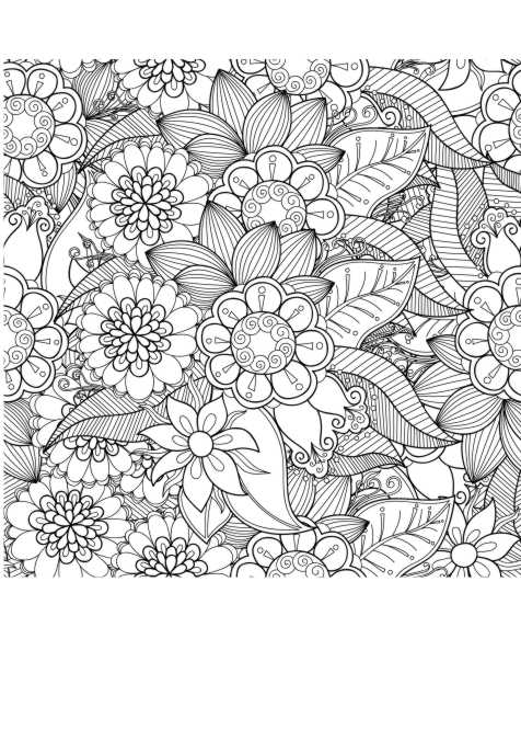Blumen Anti Stress Malen Erwachsene Ausmalen