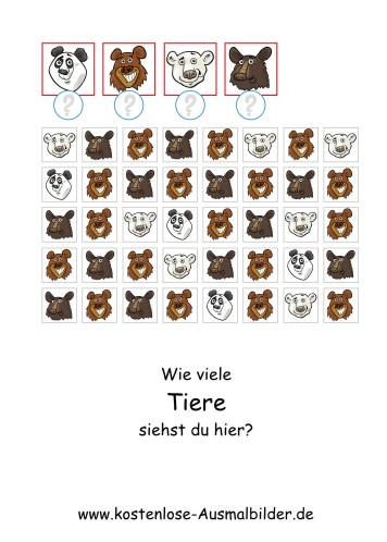 Zhlen Ben Wie Viele Tiere Lernspiele Kindergarten