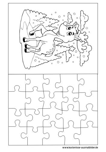 Ausmalbilder Bambi Puzzle Vorlage Puzzle Zum Ausmalen