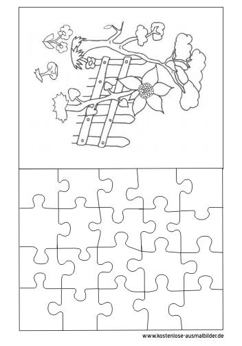 Ausmalbilder Puzzle Vorlage 2 Puzzle Zum Ausmalen
