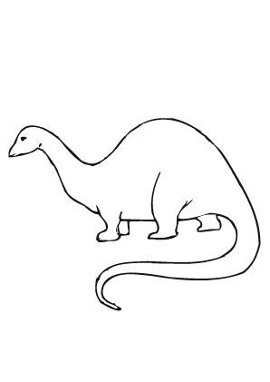 Ausmalbilder Einfacher Dinosaurier Tiere Zum Ausmalen