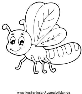 Ausmalbilder Lustiges Insekt Tiere Zum Ausmalen