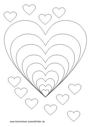 Malvorlagen Herzen Herzen Ausmalen Ausmalbilder