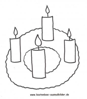 Bilder Zum Ausmalen Adventskranz