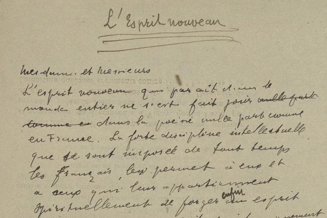 esprit-nouveau-apollinaire-manuscrit