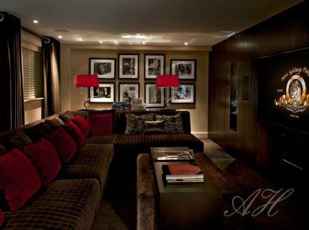 Red Silk Velvet Cushions