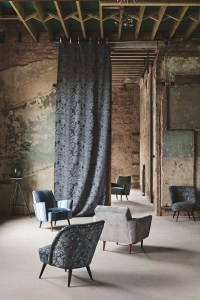 Mohair, Cotton and Silk Velvet Textured Upholstery