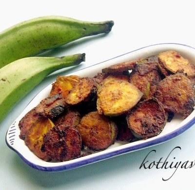Kaya Varattiyathu – Vazhakkai Varuval – Raw Plantain Fry