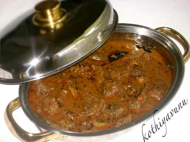Nadan Tharavu Curry - Spicy Duck Curry - Kerala Style