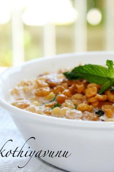 Boondi Raita /Crisp Gram flour granules in yogurt & My first Giveaway Win!