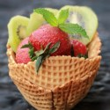 Waffel Bowl Fruity Cheesecake Tart Recipe
