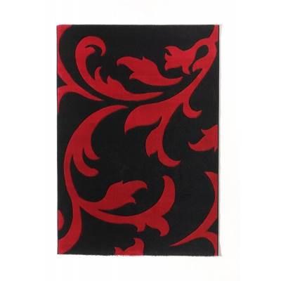tapis havanna f40 noir rouge 120x170cm