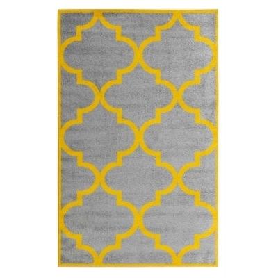 sofia petit tapis de salon moderne 50 x 80 cm gris