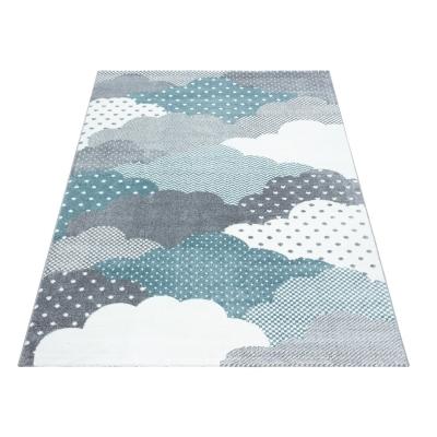 cloud tapis chambre enfant 080 x 150 cm bleu