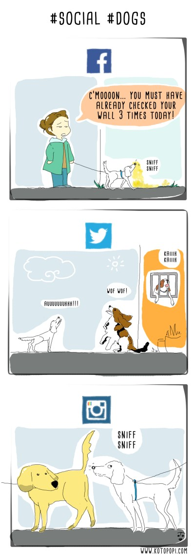 social network for dogs webcomics
