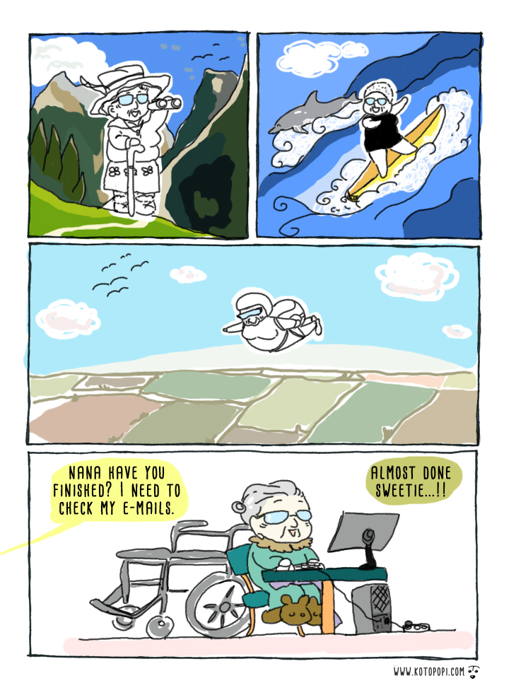 a strip comic about old age