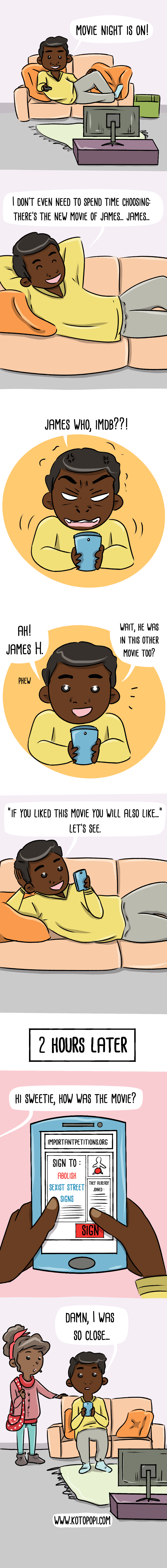 watching a movie is very difficult