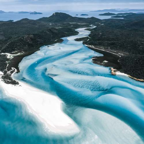 Drone Shot of the Hill Inlet in the Whitsundays