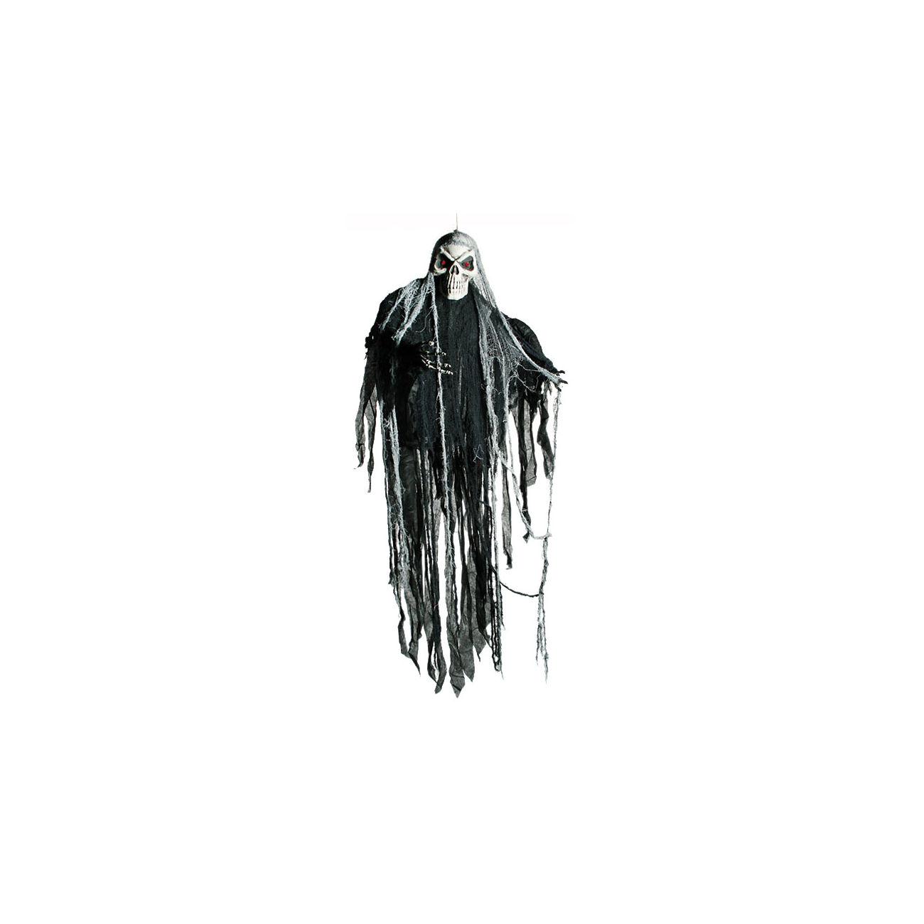 Halloween Figur Zum Aufhängen Skull Mit Led