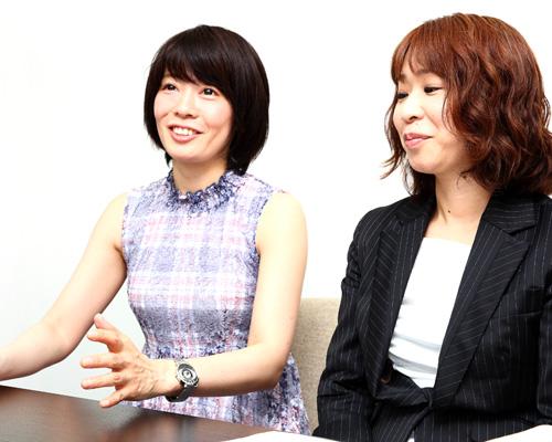 ぺぺ 北尾まなみ氏(左)と井勝めぐみ(右)氏