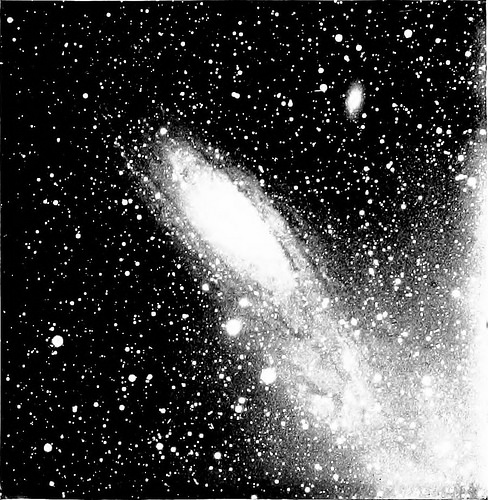 black and white nebula photo