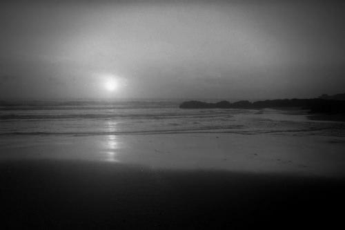 black and white night sky photo