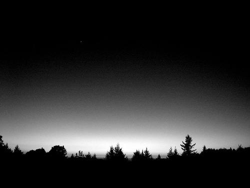 black and white sky stars photo