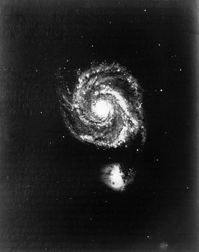 black and white nebula photo