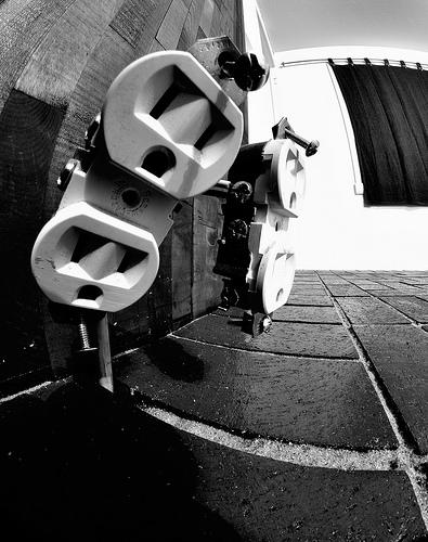 black white circuit photo