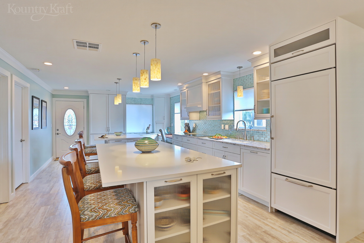 transitional white cabinets made for a kitchen in venice, fl