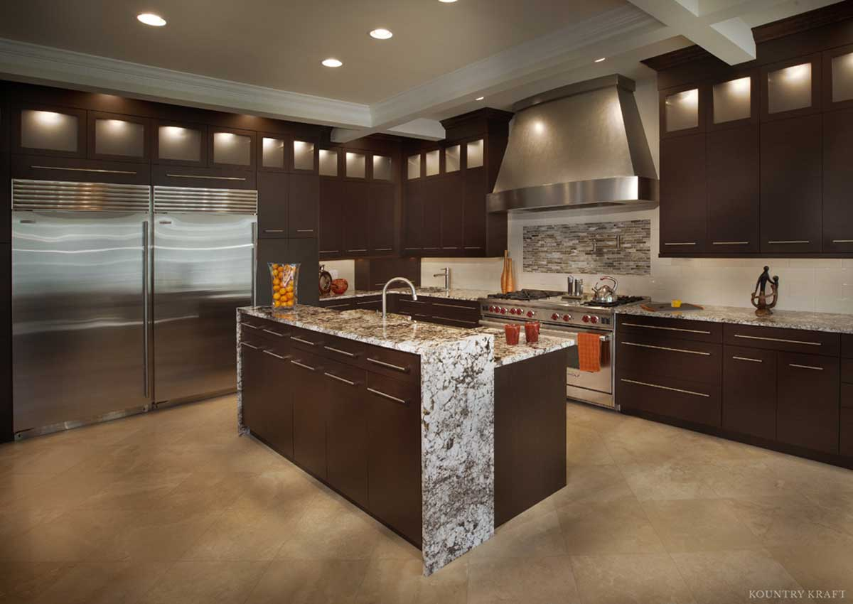 Modern Wenge Cabinets For A Kitchen Located In Vienna Virginia