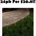 BEST PRICE!!! Grab This 24pk Solar Lights For Just $20!!! Under A Buck A Piece!!!