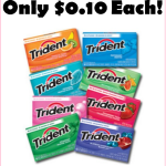 Stock Up On Trident Gum For Just $0.10 A Pack!!!